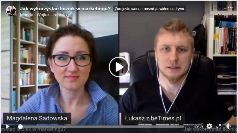 Jak wykorzystać licznik w marketingu? Live Łukasz Dominikowski